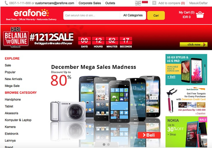 Peringati Hari Belanja Online Nasional, Erafone Kembali Manjakan Pelanggan