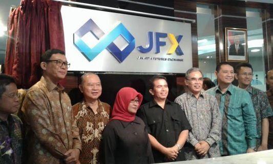 Peluncuran logo baru JFX (Foto: Dewi/detikFinance)