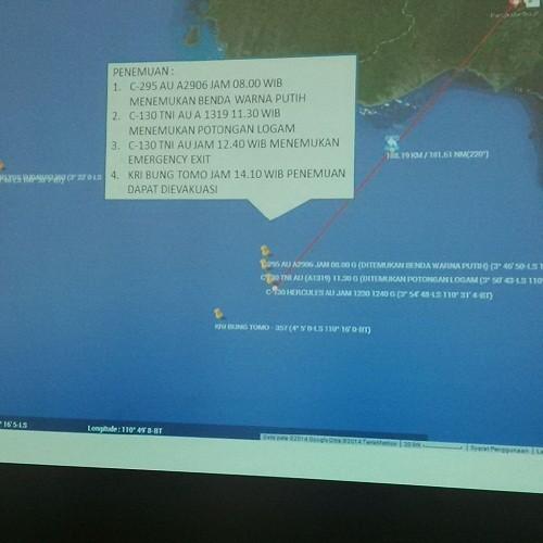 Basarnas Pastikan Lokasi Jatuhnya AirAsia QZ 8501