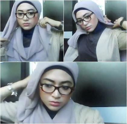 Kreasi Hijab Untuk Wanita Berkacamata Dengan Jilbab Paris