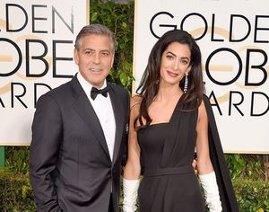 Hadir Perdana di Golden Globes, Amal Clooney Tampil dengan Sarung Tangan