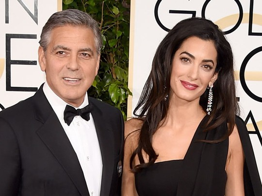 Hot Couple, George Clooney dan Amal Alamuddin di Golden Globe 2015