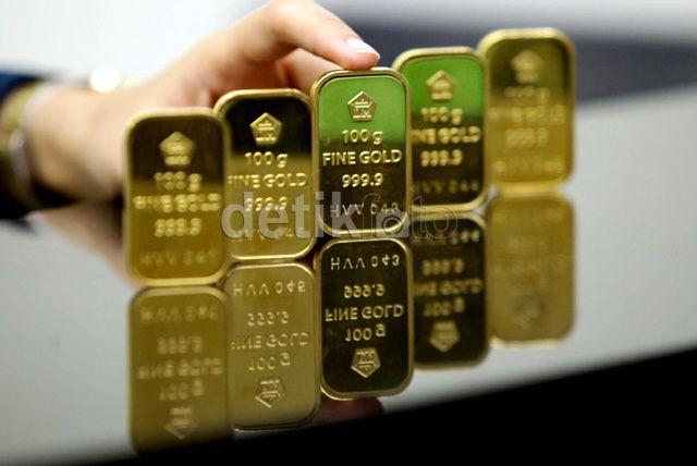 Harga Emas Lompat Rp 12000gram Gara Gara Bank Sentral Swiss