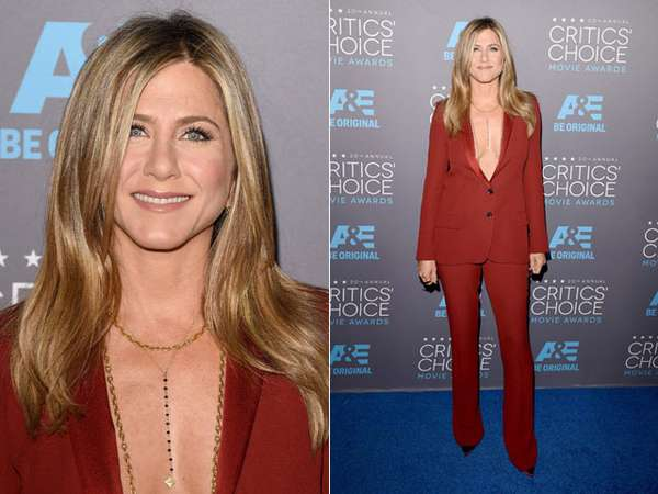 Jennifer Aniston Tanpa Bra di Critics Choice Movie Awards
