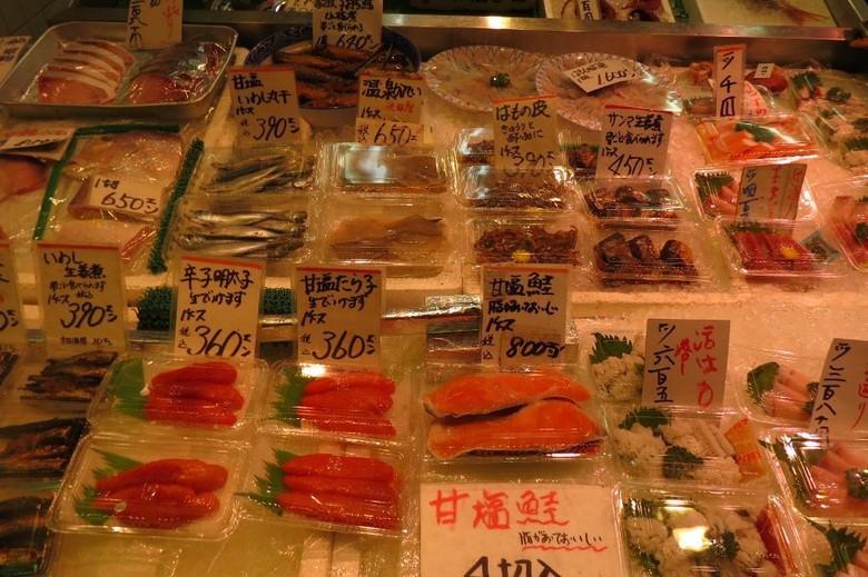 Aneka makanan olahan ikan segar di Nishiki Market (Fitraya/detikTravel)
