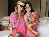 <i>Pretty in Pink</i>! Gaya Kompak Syahrini dan Paris Hilton di Bali