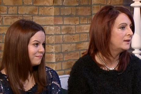Linda McFadden dan Claire (Foto: ITV This Morning)