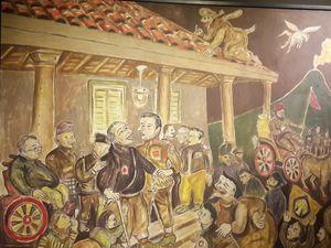 Heri Dono Bikin Lukisan Diponegoro Nangkring di Atap