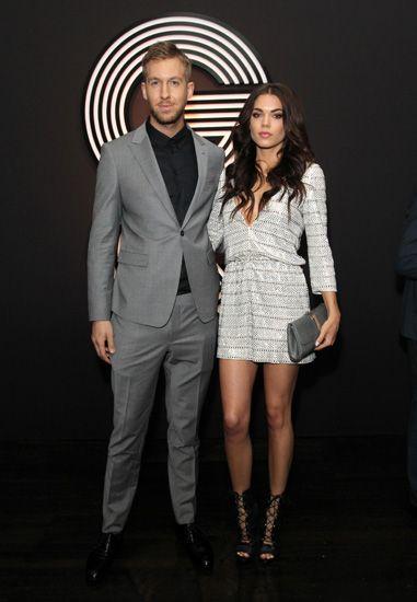 Calvin Harris gandengan pacar baru yang bernama Aarika Wolf. Rachel Murray/Getty Images/detikFoto.