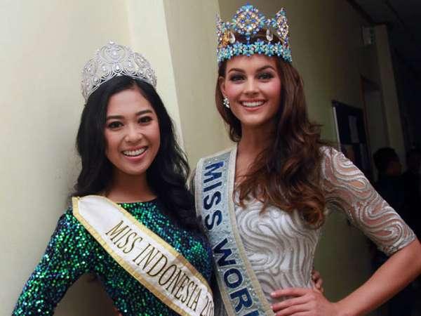 Miss Indonesia Vs Miss World, Siapa Lebih Cantik?