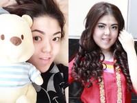 Tina Toon tanpa polesan make-up di wajahnya. (Instagram/Tina Toon; Asep Syaifullah/detikHOT)