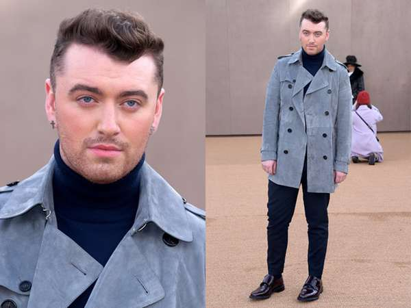 Gaya Sam Smith di London Fashion Week