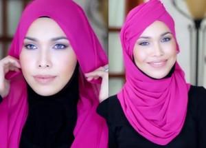 Tutorial Hijab Terinspirasi Topi Pramugari Emirates