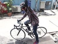 Wendy mengaku sangat menikmati waktunya saat bersepeda.