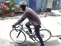 Sekarang sebisa mungkin batas maksimal gue harus bersepeda, ujarnya.