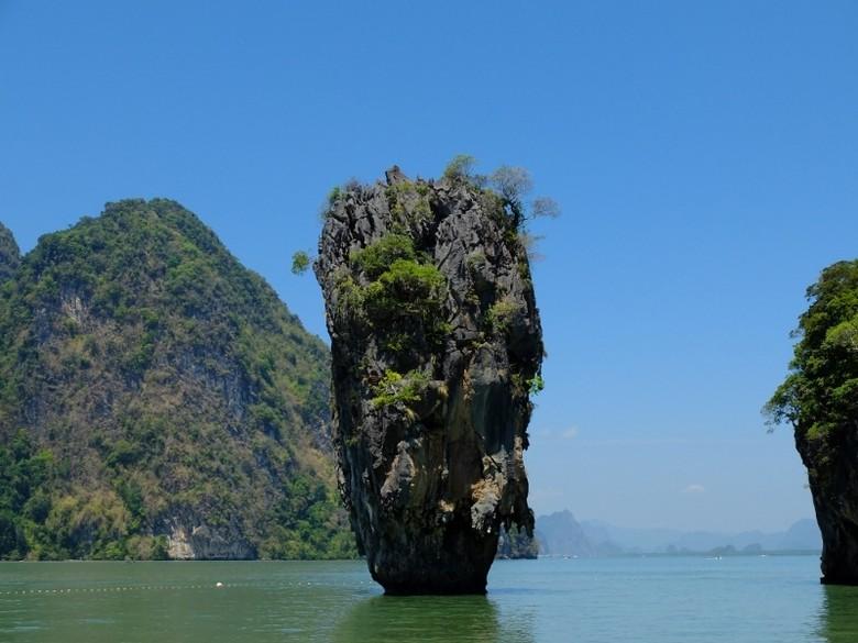 James Bond Island di Provinsi Phang Nga, Thailand (Sastri/detikTravel)