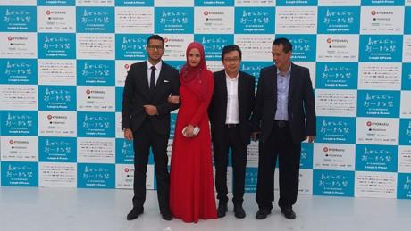 Didampingi Suami, Revalina S Temat Berhijab di Okinawa International Film Festival