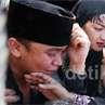 Kesedihan Billy di Pemakaman Olga Syahputra