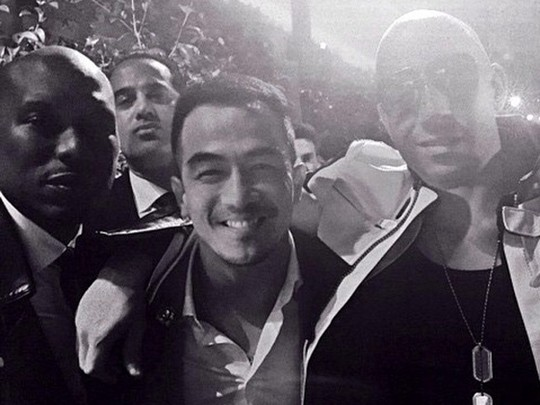 Joe Taslim dan Vin Diesel Akrab di Premiere 'Furious 7' Hollywood