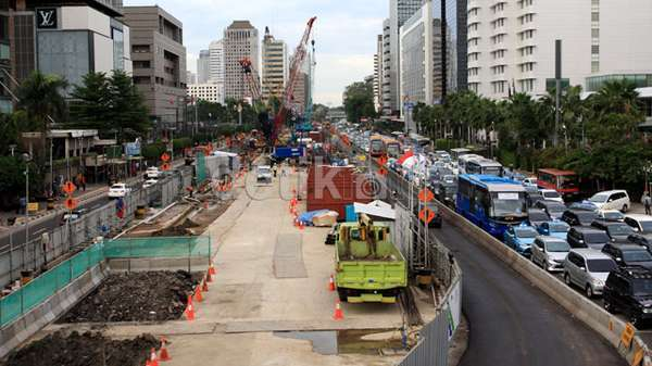 Begini Cara Pembuatan 6 Stasiun Bawah Tanah MRT di Jl Sudirman