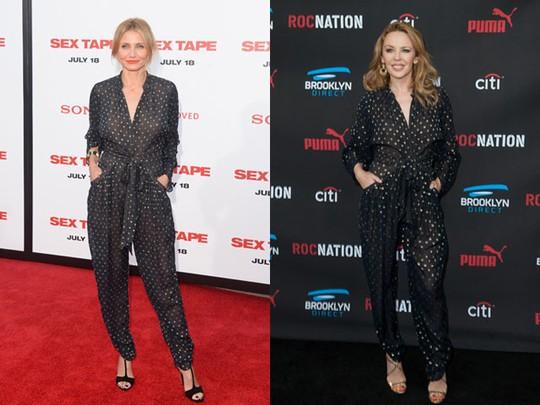 Siapa Lebih Stylish dengan Jumpsuit ini, Cameron Diaz atau Kylie Minogue?