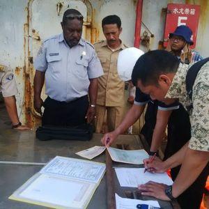 Satgas Illegal Fishing Cek Kapal Eks Asing Sino di Merauke