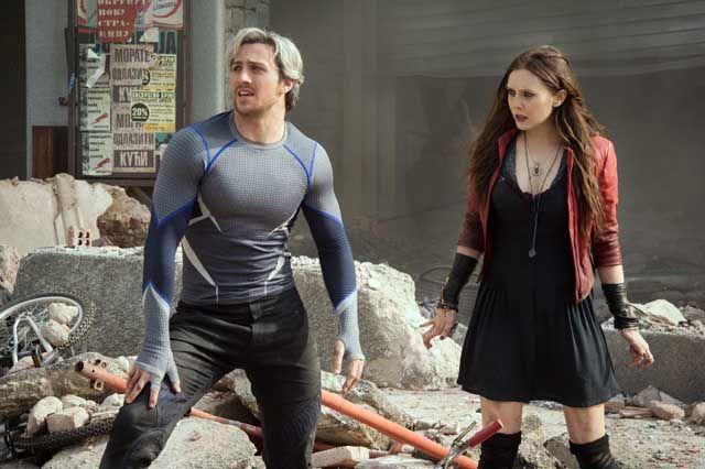 Dua karakter baru yang diundang sutradara Joss Whedon, Quicksilver (Aaron Taylor-Johnson) dan Scarlet Witch (Elizabeth Olsen) sukses mencuri perhatian. Sutradara (Dok Marvel Studios)