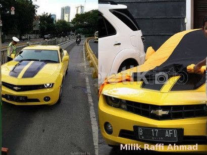 Bumblebee-nya Serobot Busway, Raffi Ahmad: Mobil Dipakai Temen Gue