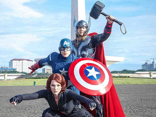 The Avengers Beraksi di Monas, Ini Fotonya!