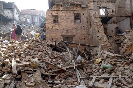 Gempa Nepal (reuters)