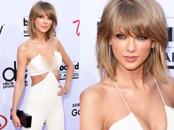 Tampil Serba Putih, Taylor Swift Pamer Dada di Billboard Awards 2015