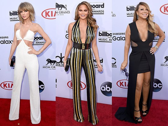 Taylor Swift Hingga Mariah Carey, Artis Pamer Belahan Dada di BBMA 2015