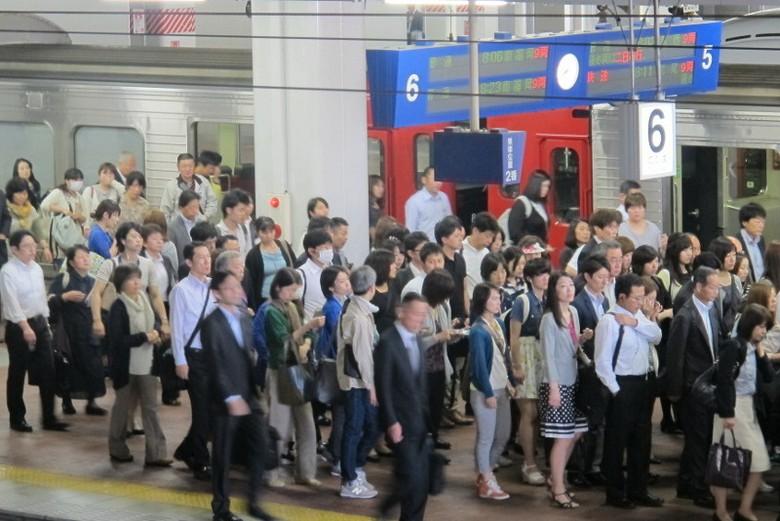 Hiruk pikuk di Stasiun Hakata (Afif/detikTravel)