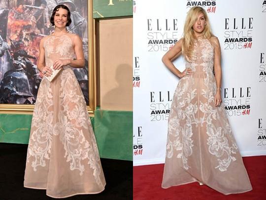 Siapa Lebih Anggun Bergaun Ini, Ellie Goulding atau Evangeline Lilly?