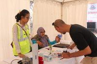 Selain menggelar jalan sehat, PKBI juga memberikan layanan tes HIV gratis di lokasi yang sama. (Foto: Nita Sari/detikHealth)