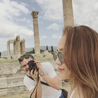 BCL dan Ashraf memamerkan kemesraan mereka di Yunani di Instagram masing-masing. (Instagram/Bunga Citra Lestari)