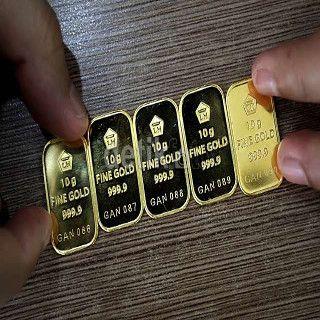 Emas Batangan Antam Rp 555000gram Naik Rp 2000