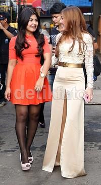 Icha ikut tampil bersama Bella di acara 'Rumpi No Secret' Trans TV beberapa waktu lalu.