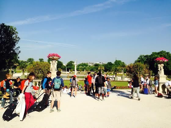 Di Paris, ada Taman Jardin du Luxemnbourg. Taman ini merupakan taman yang sangat terkenal dan populer di Paris (Niken/detikTravel)