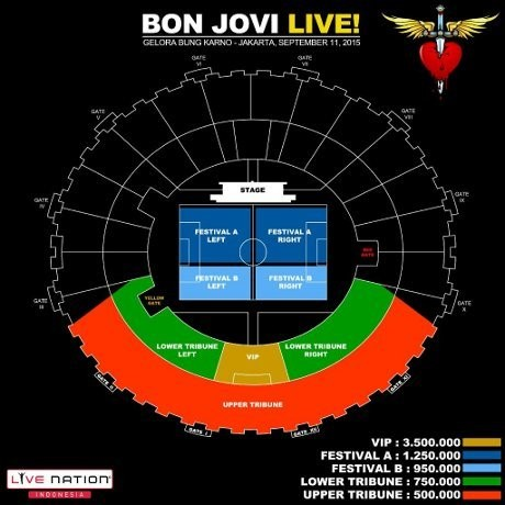 Tiket Konser Bon Jovi Dijual Mulai Rp 500 Ribu
