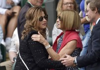 Ia juga sempat menyapa istri dari Roger Federer, Mirka Federer. REUTERS/Stefan Wermuth/detikFoto.