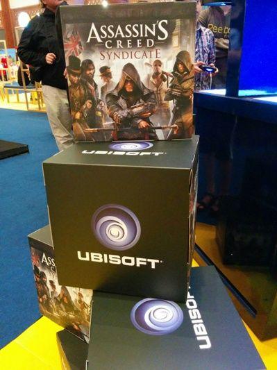 Publisher game ternama, Ubisoft juga ikut andil dalam ajang Popcon Asia 2015. Produsen game asal Perancis ini memboyong Assassin's Creed.