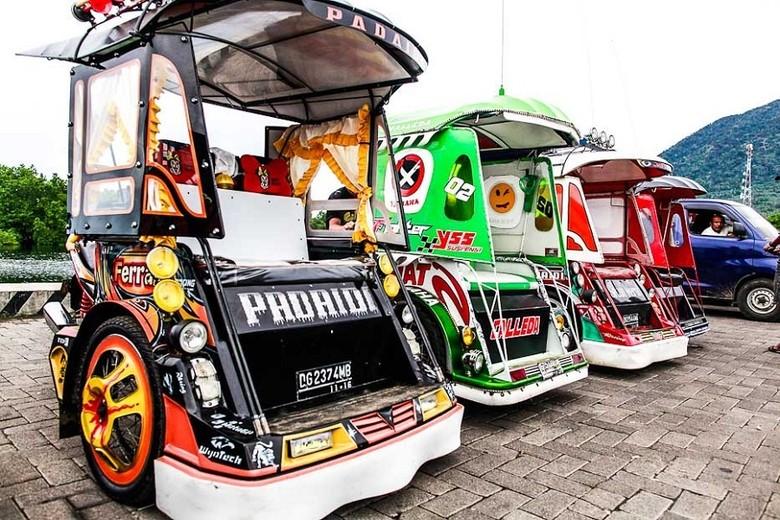 Becak motor Jailolo atau disingkat bentor (indonesia.travel)