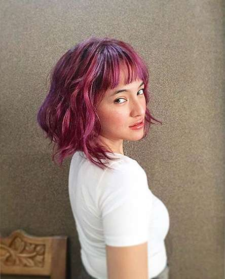Pirang hingga Burgundy, Transformasi Warna Rambut Marshanda