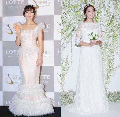 Korean Style Cantiknya Selebriti Korea Dalam Balutan Gaun Pengantin