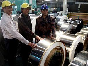 Peresmian Mesin Tension Leveler Multiroll Pertama di Indonesia