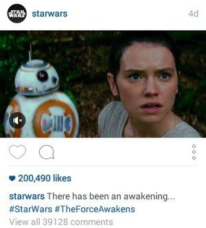 Teaser Star Wars Diumbar di Instagram