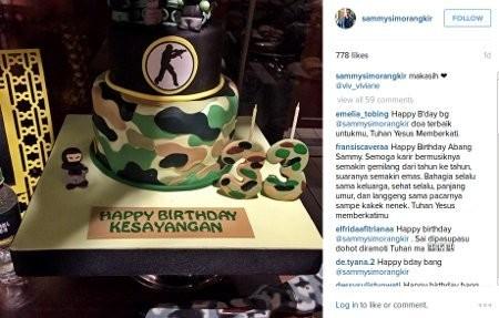 Happy Birthday Kesayangan Kue Ulang Tahun Sammy Dari Viviane