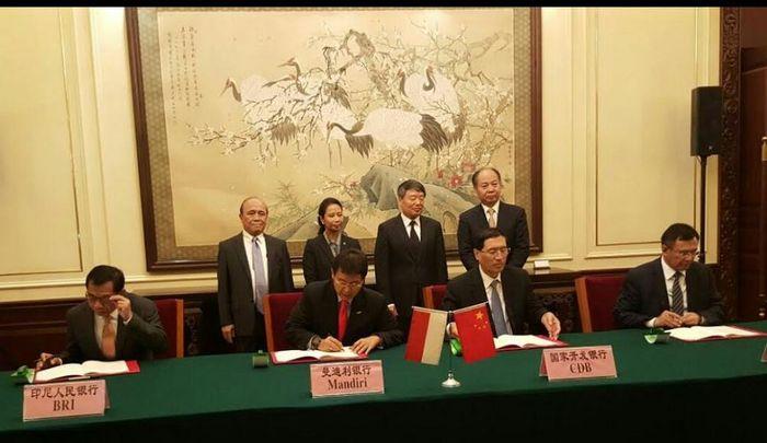Foto: Penandatanganan Utang Bank BUMN dan Bank Pembangunan China