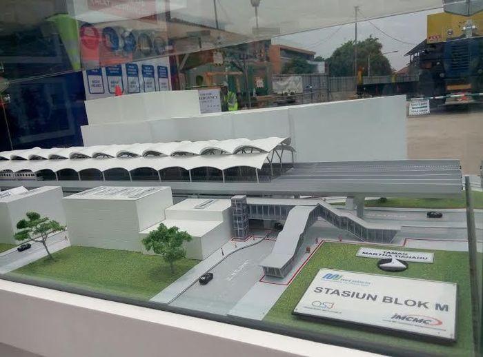 foto: miniatur stasiun MRT Jakarta di daerah Blok M